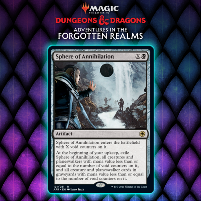 Black Gets Delayed Sweeper Artifact In Sphere of Annihilation In Adventures In The Forgotten Realms