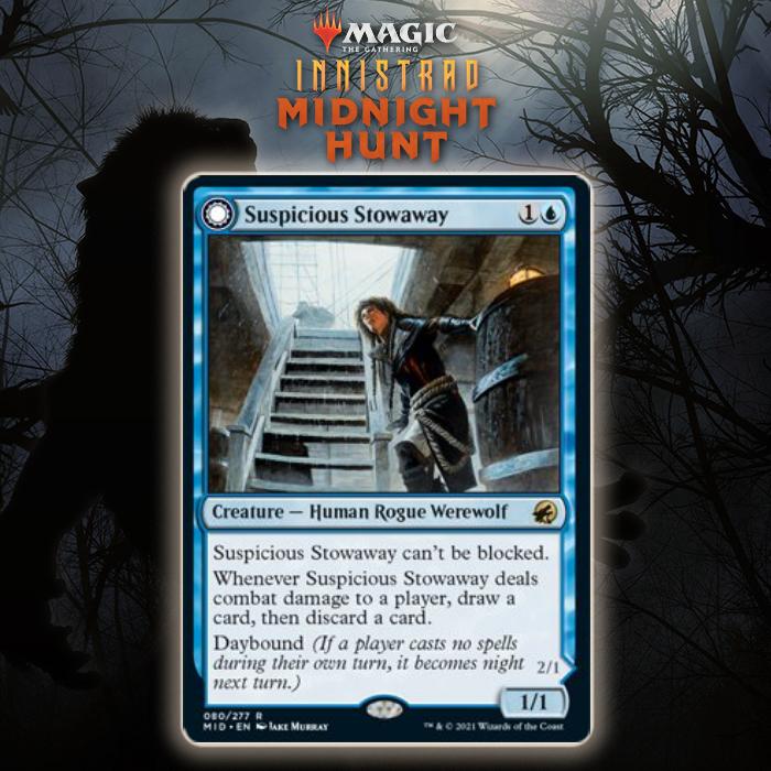Blue Gets Unique DFC Rogue Werewolf In Suspicious Stowaway In Innistrad: Midnight Hunt