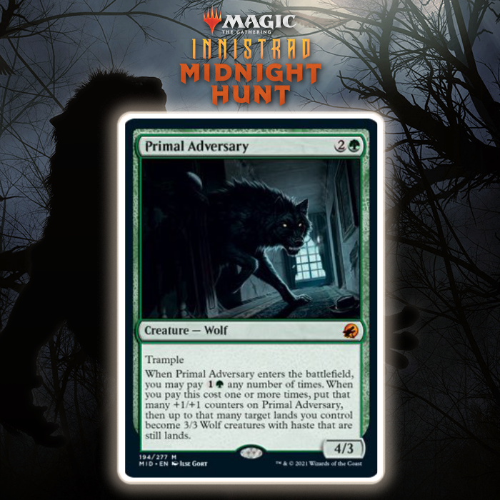 Mythic Rare Cycle Finished With Green's Primal Adversary In Innistrad: Midnight Hunt