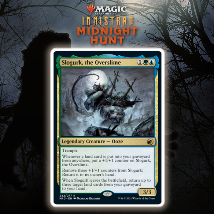 Simic Gets Lands-Based Legendary Ooze In Slogurk, The Overslime In Innistrad: Midnight Hunt