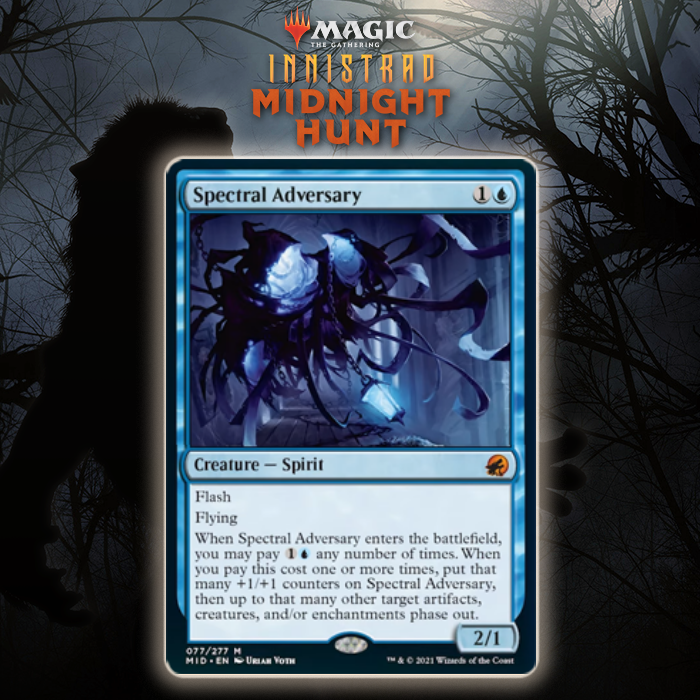 Blue Gets Mythic Rare Spirit In Spectral Adversary In Innistrad: Midnight Hunt