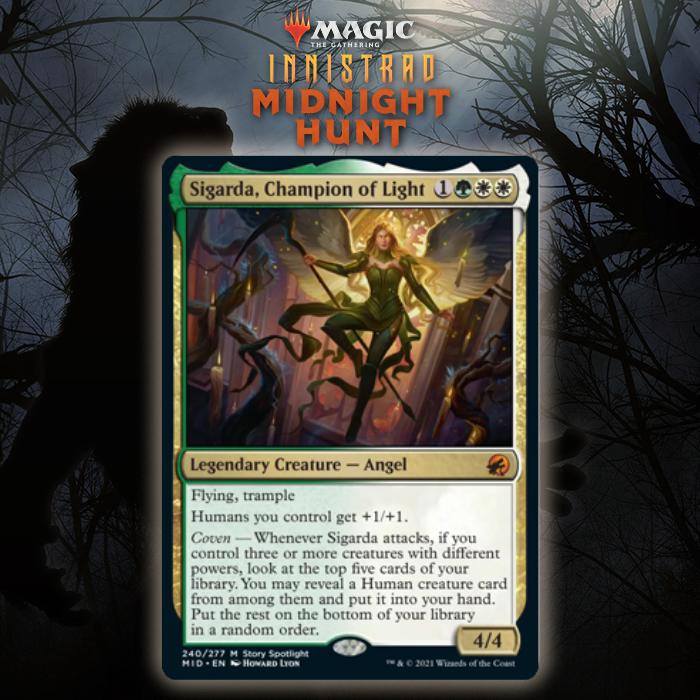 Selesnya Gets Mythic Rare Angel In Sigarda, Champion of Light In Innistrad: Midnight Hunt