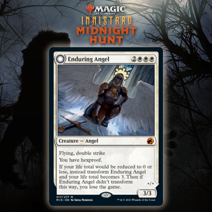 White Gets DFC Mythic Angel In Enduring Angel In Innistrad: Midnight Hunt