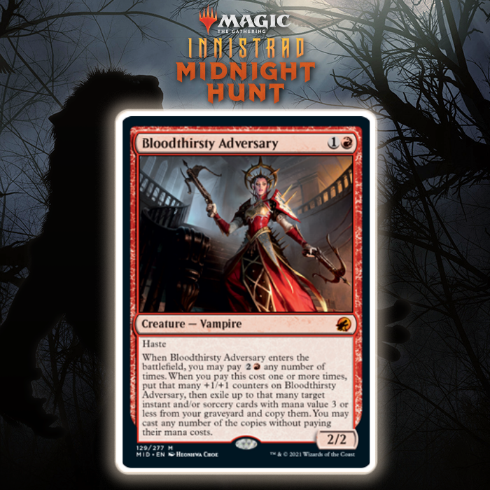 Red Gets Mythic Rare Vampire in Bloodthirsty Adversary In Innistrad: Midnight Hunt