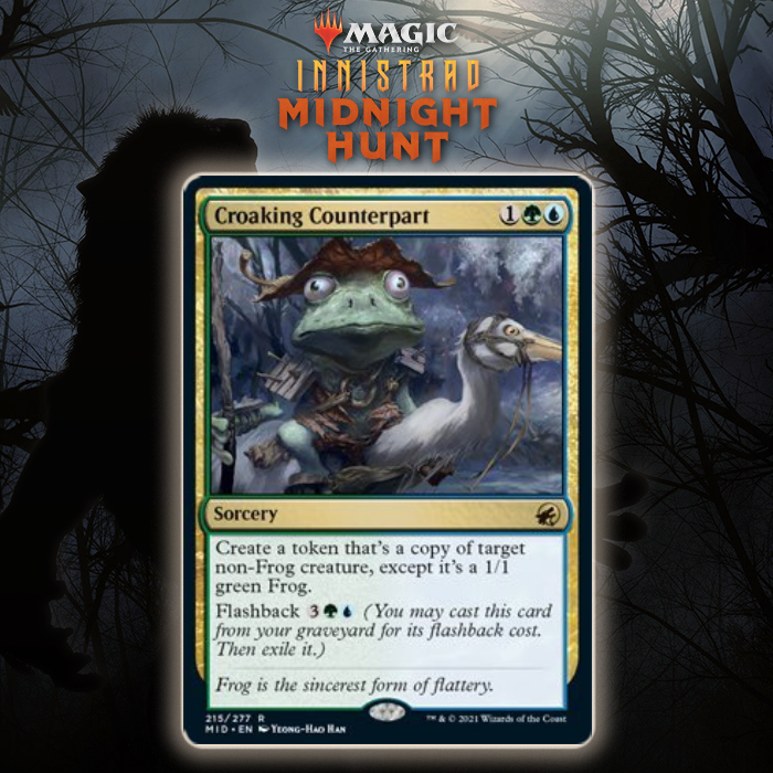 Simic Gets Flashback Cloning Spell In Croaking Counterpart In Innistrad: Midnight Hunt