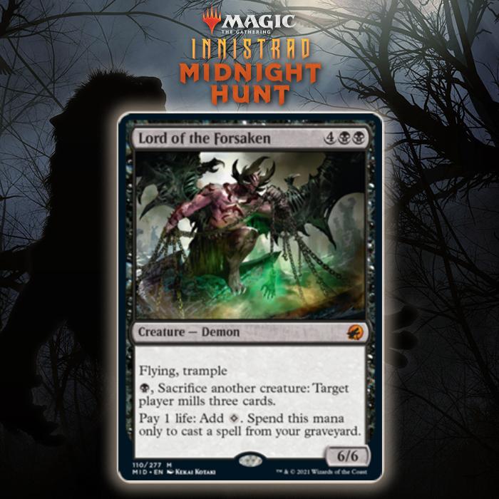 Black Gets Mythic Rare Demon In Lord of the Forsaken In Innistrad: Midnight Hunt