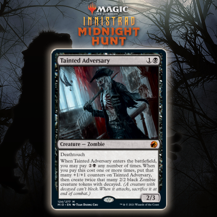 Black Gets Mythic Rare Zombie In Tainted Adversary In Innistrad: Midnight Hunt