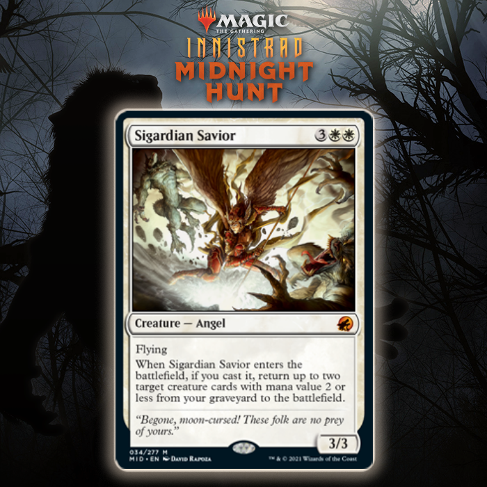 White Gets Reanimating Angel In Sigardian Savior In Innistrad: Midnight Hunt