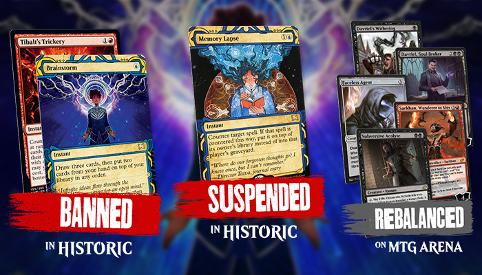 Tibalt's Trickery Banned, Memory Lapse Suspended In Historic