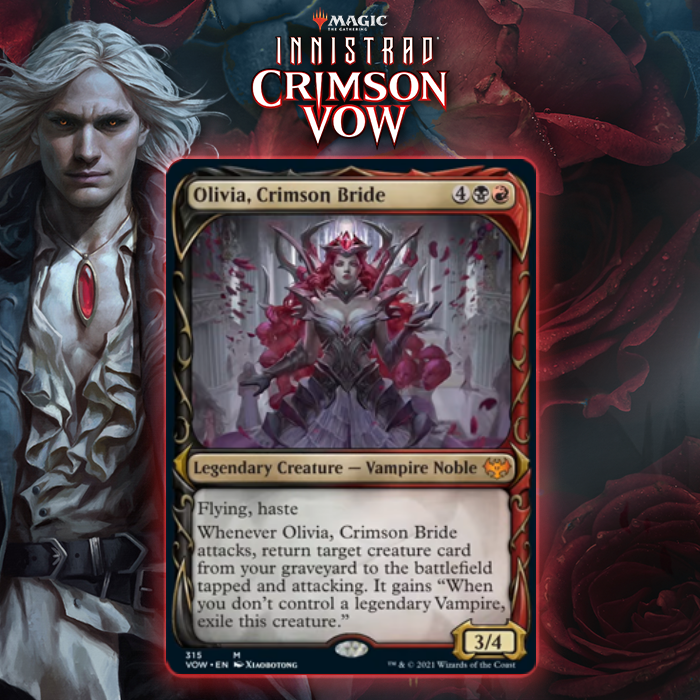 Innistrad's Vampire Queen Returns! Meet Olivia, Crimson Bride From Innistrad: Crimson Vow